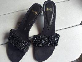 1to3 Sandalo con tacco alto e lacci a T nero Pelle