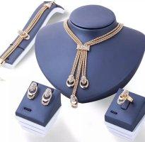 100% Fashion Złoty łańcuch złotopomarańczowy