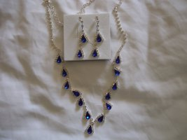 Schmuckset blau Modeschmuck