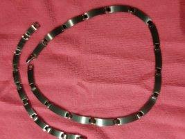 Stainless steel Schakelketting zilver