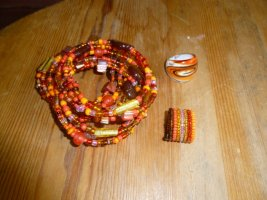 Schmuckset Orange Armreife Ringe