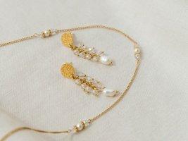 Purelei Collier de perles blanc-or rose