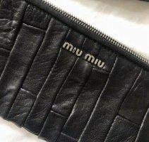 Schnäppchen!! miu miu vintage bag Tasche Clutch Leder Handtasche schwarz TOP Zustand