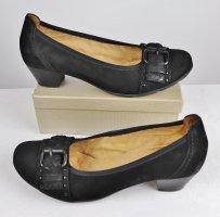 Schnalle Pumps Wildleder Schuhe Ballerina Gabor Größe 37 4,5 Schwarz Flecht Detail Schuhe Leder
