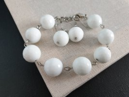 Boutique Ware Armband wit-zilver