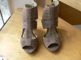 3 Suisses Sandalo alto con plateau marrone-grigio Pelle