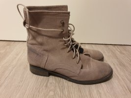 appetizer Lace-up Booties grey brown-beige