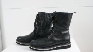 La Shoe Desert Boots black leather