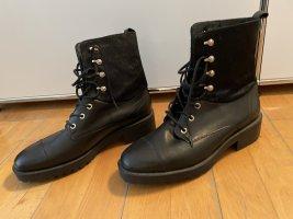 Massimo Dutti Low boot noir cuir