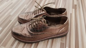 Claudia Ghizzani Lace Shoes bronze-colored