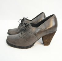 Bianco Lace-up Pumps dark grey-light brown leather