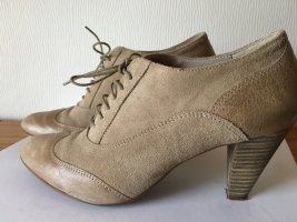 Eye Lace-up Pumps beige leather