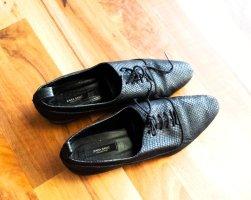 Schnürrschuhe aus echtem Leder von ZARA in schwarz, Gr. 37