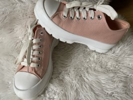 Schnürschuh Sneaker in Apricot
