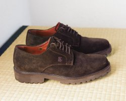 Oxfords black brown suede
