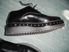 Albano Sznurowane buty czarny Skóra