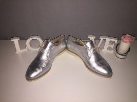 Schnürschuhe Silber Größe 40