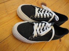 Another A Sneakers met veters wit-zwart