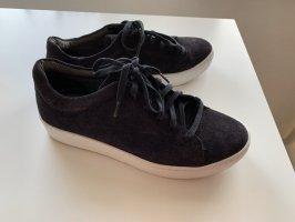 Vagabond Sneakers met veters donkerblauw