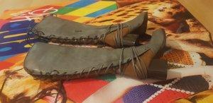 aus Italien Aanrijg laarzen taupe-grijs-bruin