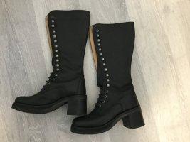 Sancho Aanrijg laarzen zwart-lichtgrijs Leer