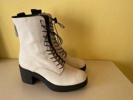 Sienna Bottines à lacets blanc-noir