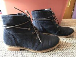 Graceland Patucos con cordones azul oscuro-marrón