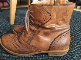 shoe embassy Bottine ajourée brun-cognac
