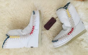 MOU Boots Futrzane buty biały-w kolorze białej wełny