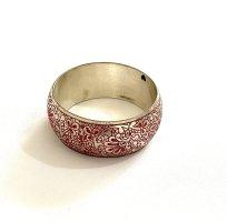 Vintage Bracelet gris clair-rouge foncé