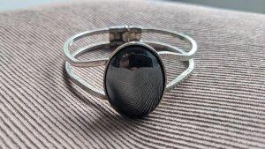Bracelet de bras argenté-gris anthracite