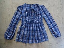 Schöne blau-karierte Bluse
