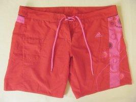 Schöne, coole Boardshorts, Sportshorts von ADIDAS, rot mit pink, Größe DE 40