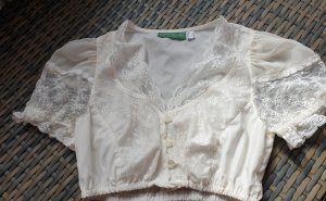 Country Line Folkloristische blouse licht beige Polyester