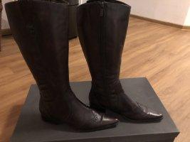 Schöne dunkelbraune Stiefel von Zanon & Zago, Gr. 38