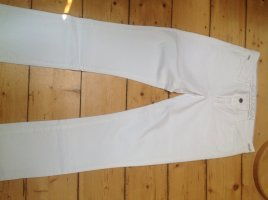 Goldsign Pantalon boyfriend blanc tissu mixte