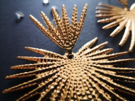 Topshop Pendientes colgante color oro