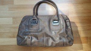 schöne große Handtasche, hell braun-beige
