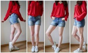Denham Pantaloncino di jeans multicolore Cotone