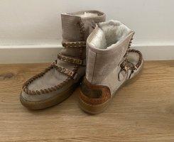 Karma of Charme Futrzane buty beżowy