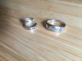 Schöne kleine Silber Creolen mit Muster