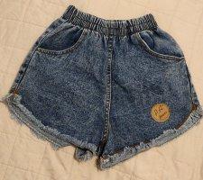 Schöne kurze High Waist Jeans Hose, Hotpants, Gr. S
