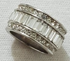 Vintage Silver Ring white-silver-colored