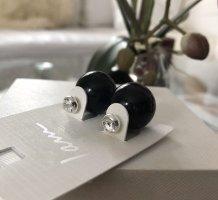 1.2.3 Paris Oorstekers zwart-zilver