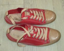 Tamaris Sneaker stringata rosso Pelle