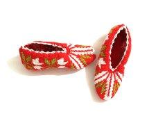 Handmade Bufanda de punto multicolor