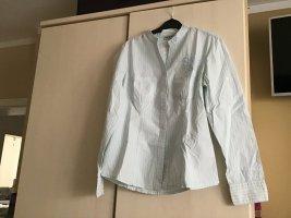 Street One Blusa de cuello alto blanco-azul bebé