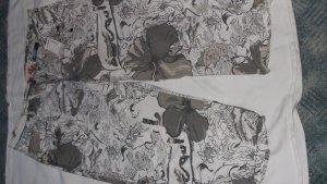awg Pantalone a 3/4 grigio chiaro-bianco sporco Tessuto misto