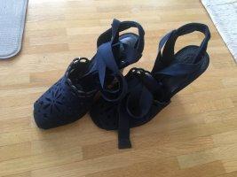 Tory Burch Espadrille Sandals dark blue leather