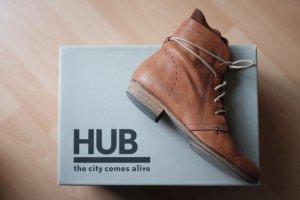 Schöne Stiefeletten von HUB Footwear, Gr. 38, cognac